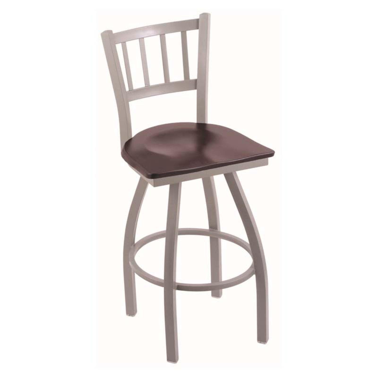 Holland Bar Stool Contessa 30 in. Swivel Bar Stool with Wood Seat