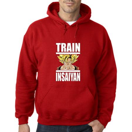 667 - Hoodie Train Insaiyan Super Saiyan Goku Dragon Ball Dbz Sweatshirt