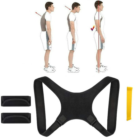 Peroptimist Posture Correction Straightener Shoulder Back Posture Bandage Adjustable Size Back Bandage for Men and Women Posture Corrector Posture Trainer, Padded Straps Adj Back Strap