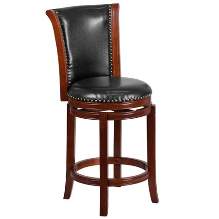 Flash Furniture 26 High Dark Chestnut Wood Counter