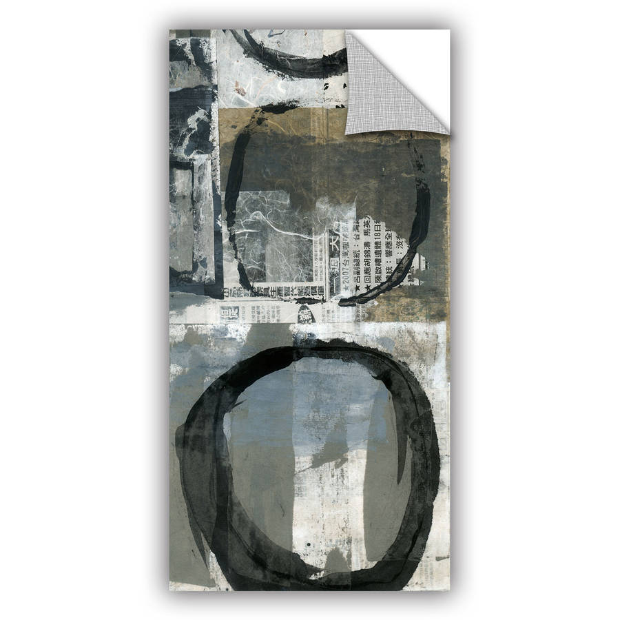 "ArtAppealz Elena Ray ""Black Ink Enso Circle"" Removable Wall Art"