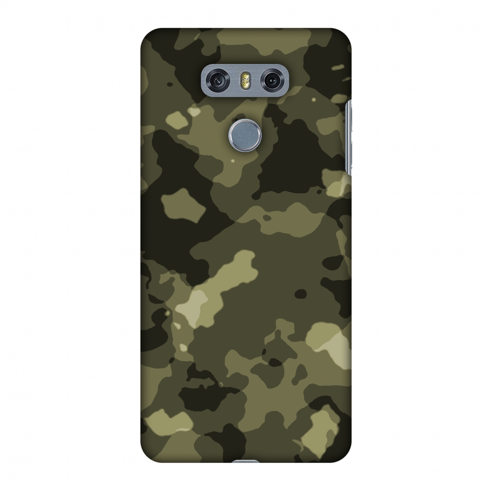 LG G6 Case, LG G6 Plus Case - Camou- Antique bronze,Hard Plastic Back Cover, Slim Profile Cute Printed Designer Snap on Case with Screen Cleaning Kit