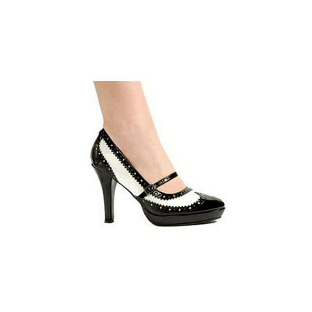 Elllie Flapper Pump 414-FlapperEL Black/White