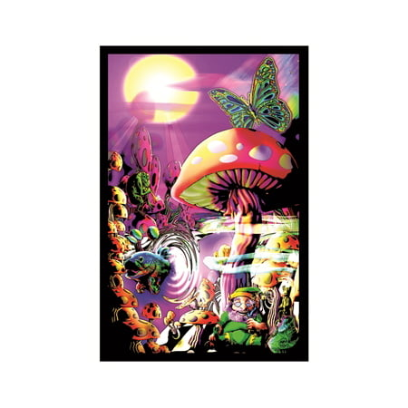 Magic Valley Blacklight (Magic Vintage Poster)