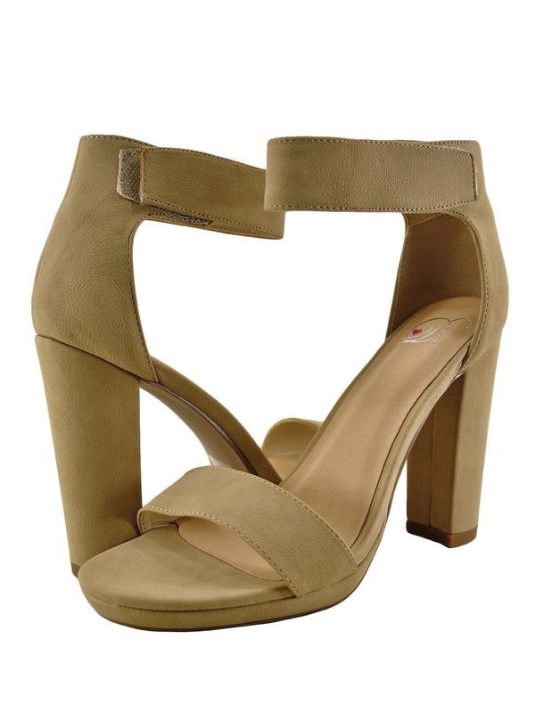 Delicious Osar Womens Open Toe Ankle Strap Chunky Heel