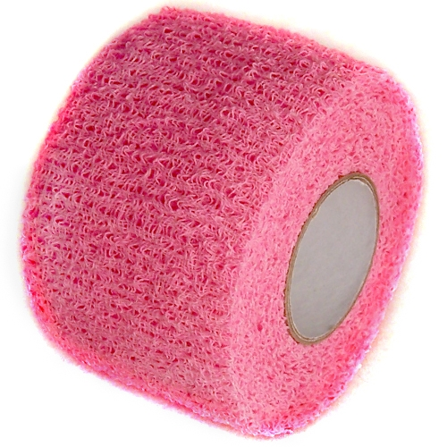 Pink Cohesive Soft Grip Tape 1-1/2 inch x 5 yards