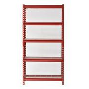 SANDUSKY UR301260WD5-R Freestanding Bulk Storage Rack, 12 in D, 30 in W, 60 in H, 5 Shelves, Red
