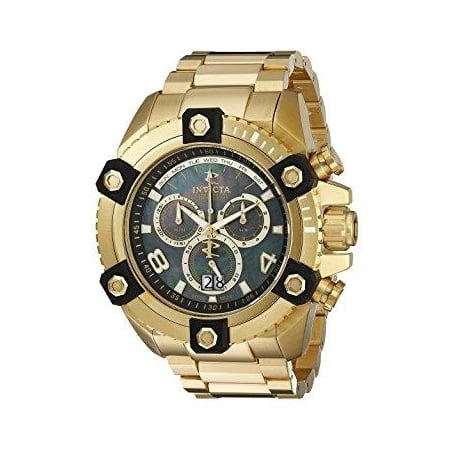 - Men's Arsenal Reserve Chronograph 18K GP SS Black MOP Dial