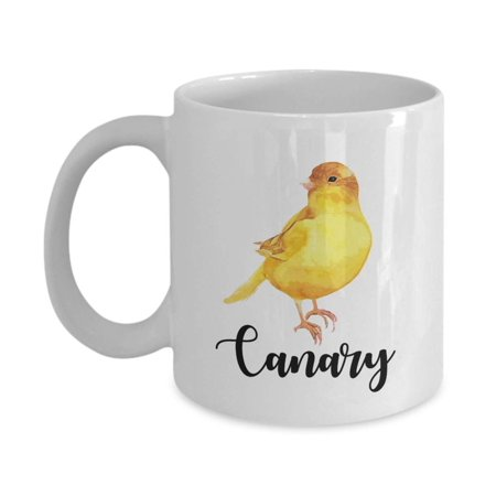 Bird Lover Gift (Cute Yellow Canary Pet Bird Print Coffee & Tea Gift Mug, Products, Supplies, Accessories And Gifts For Birds Lover Men & Women )