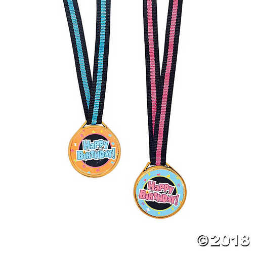 Happy Birthday Medals