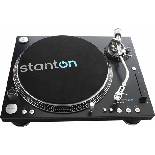 Stanton ST150 DJ Turntable with World's Strongest Torque Motor by Samson