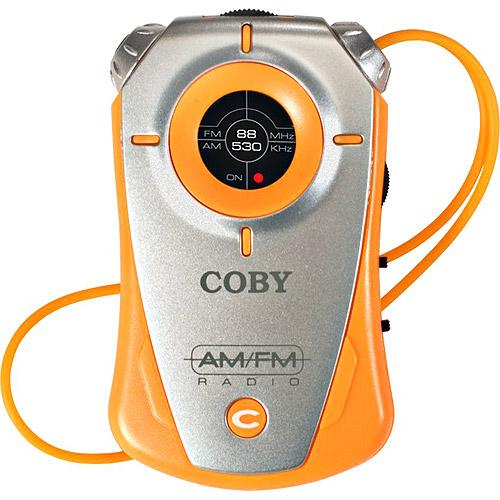 Coby Mini AM/FM Pocket Radio - Orange