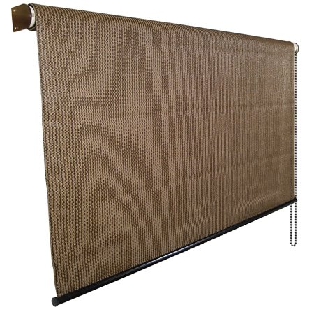 Coolaroo Select Series Roll Up Exterior Window Shade 6 39 W X 6 39 D Mocha