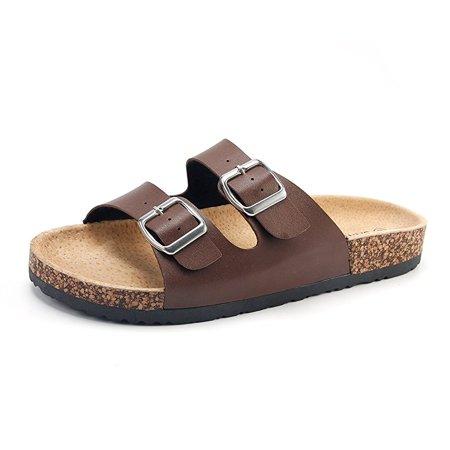 89497ebbde43 Phoebecat - Brown Flat Sandals Shoes for Women