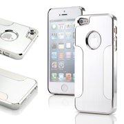 Sliver Aluminum Brushed Matte Chrome Hard Cover Metal Case for Apple iPhone SE & 5 5S