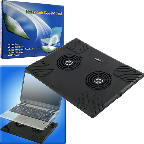 Trademark Global Notebook USB Cooling Pad with 2 Fans by Northwest
