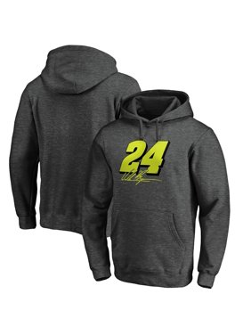 William Byron Fanatics Branded Number Signature Pullover Hoodie - Heathered Gray