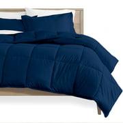 Bare Home Ultra-Soft Premium 1800 Series Goose Down Alternative Comforter Set - Hypoallergenic - All Season - Plush Fiberfill, Twin Extra Long (Twin/Twin XL - Dark Blue)