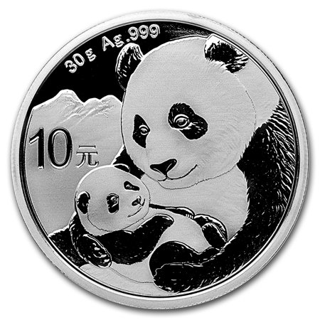 Chinese Gold Coins (2019 China 30 gram Silver Panda BU (In)