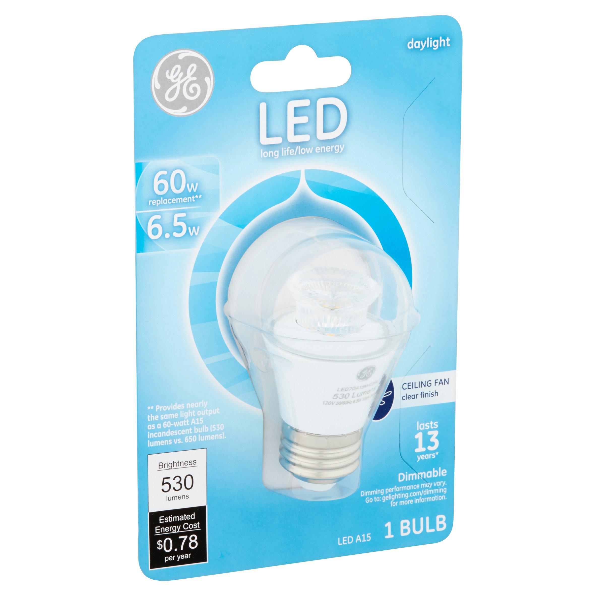 GE LED Daylight A15 Bulb 6 5W Walmart