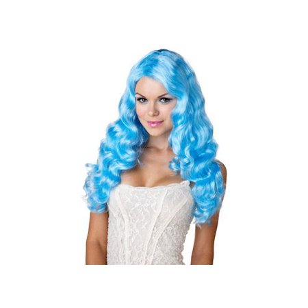 California Costume Collections Blue Sweet Tart Wig 70614CAL Light Blue - Blue Costume Wigs