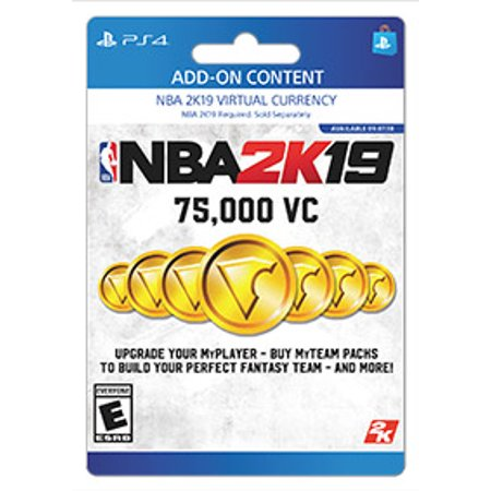 NBA 2K19: 75,000 VC, 2K Games, Playstation, [Digital Download]