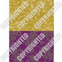 Nunn Design Collage Sheet Wheat/Violet Floral For Scrapbook - Fits Patera