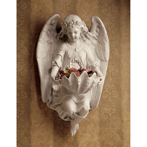 Design Toscano Brixton Abbey Angel Wall D cor (Set of 2)
