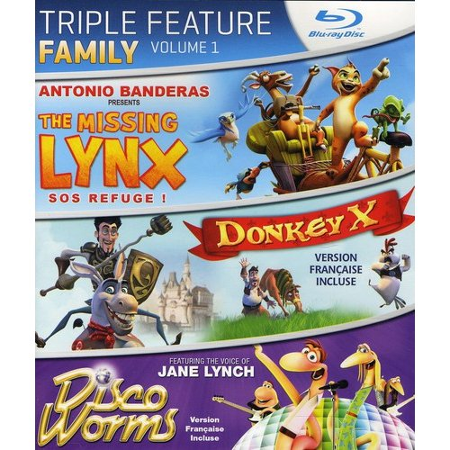 Family Triple Feature: Volume 1 - The Missing Lynx / Donkey X / Disco Worms (Blu-ray) (Widescreen)