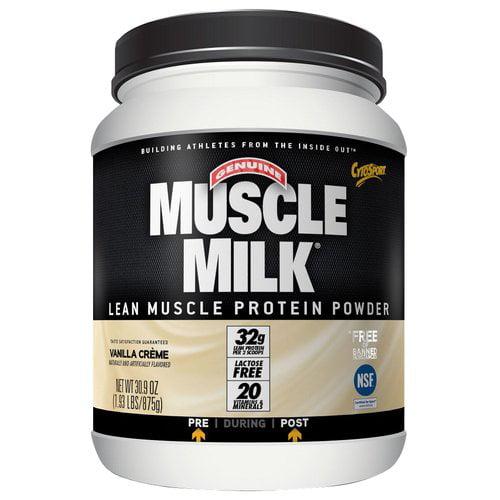 Muscle Milk Vanilla Creme Lean Muscle Protein Powder, 30.9 oz