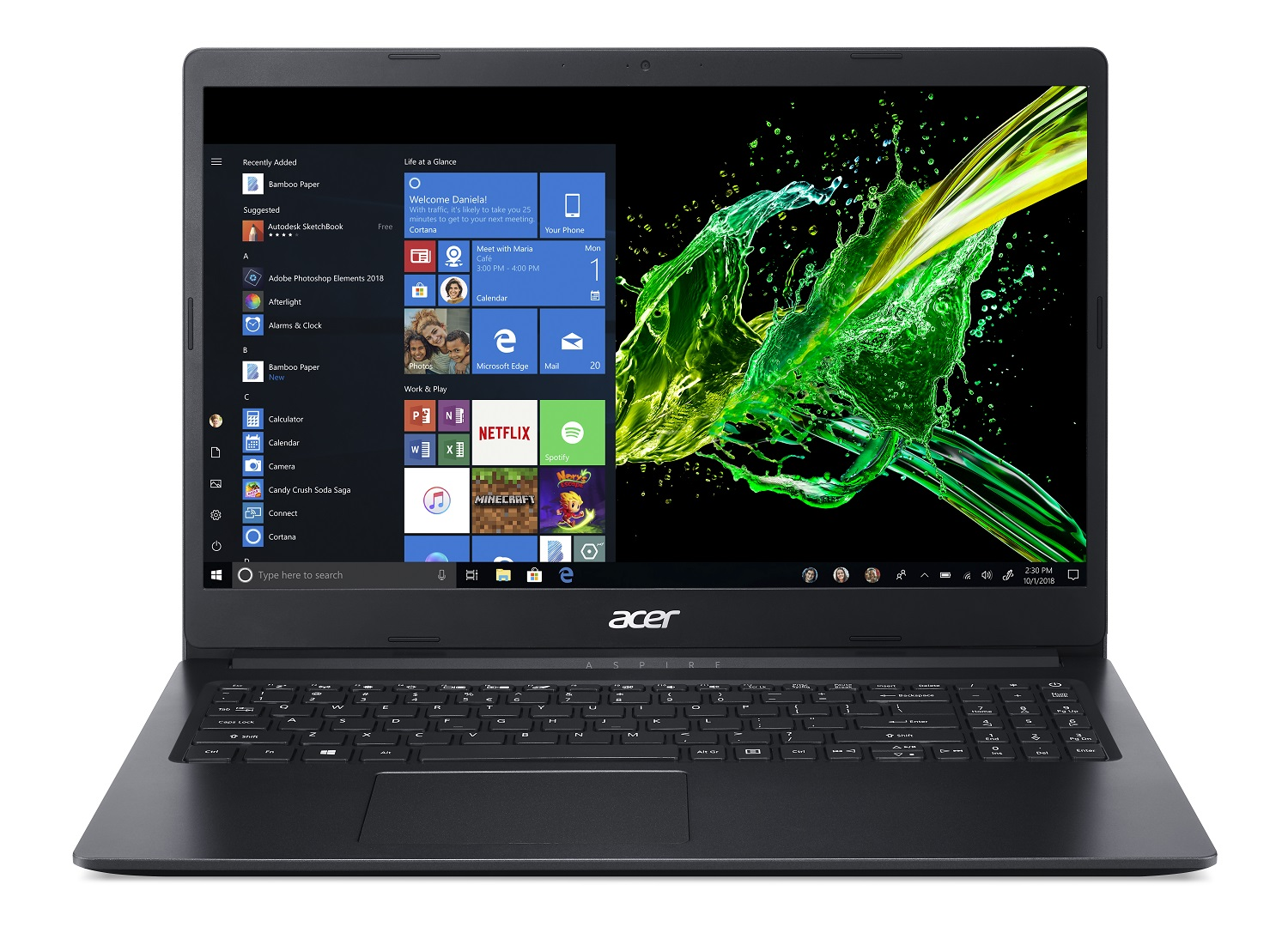 "Acer Aspire 1, 15.6"" HD Screen, Intel Celeron N4000, 4GB DDR4, 64GB eMMC, Windows 10 in S mode, A115-31-C23T - Walmart.com"