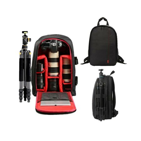 Fysho Waterproof SLR DSLR Camera Bag Shockproof Case Backpack-Rucksack For Nikon-Canon-Sony