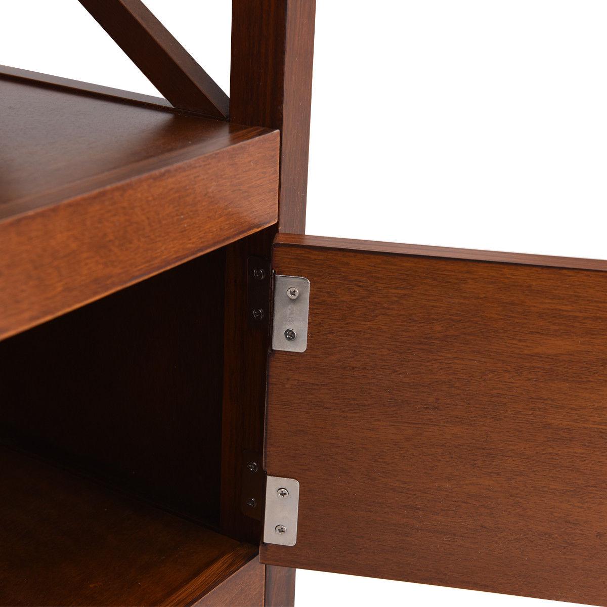 "44"" TV Stand Console Wooden Storage Cabinet Shelf Media Center Stand - image 4 de 9"