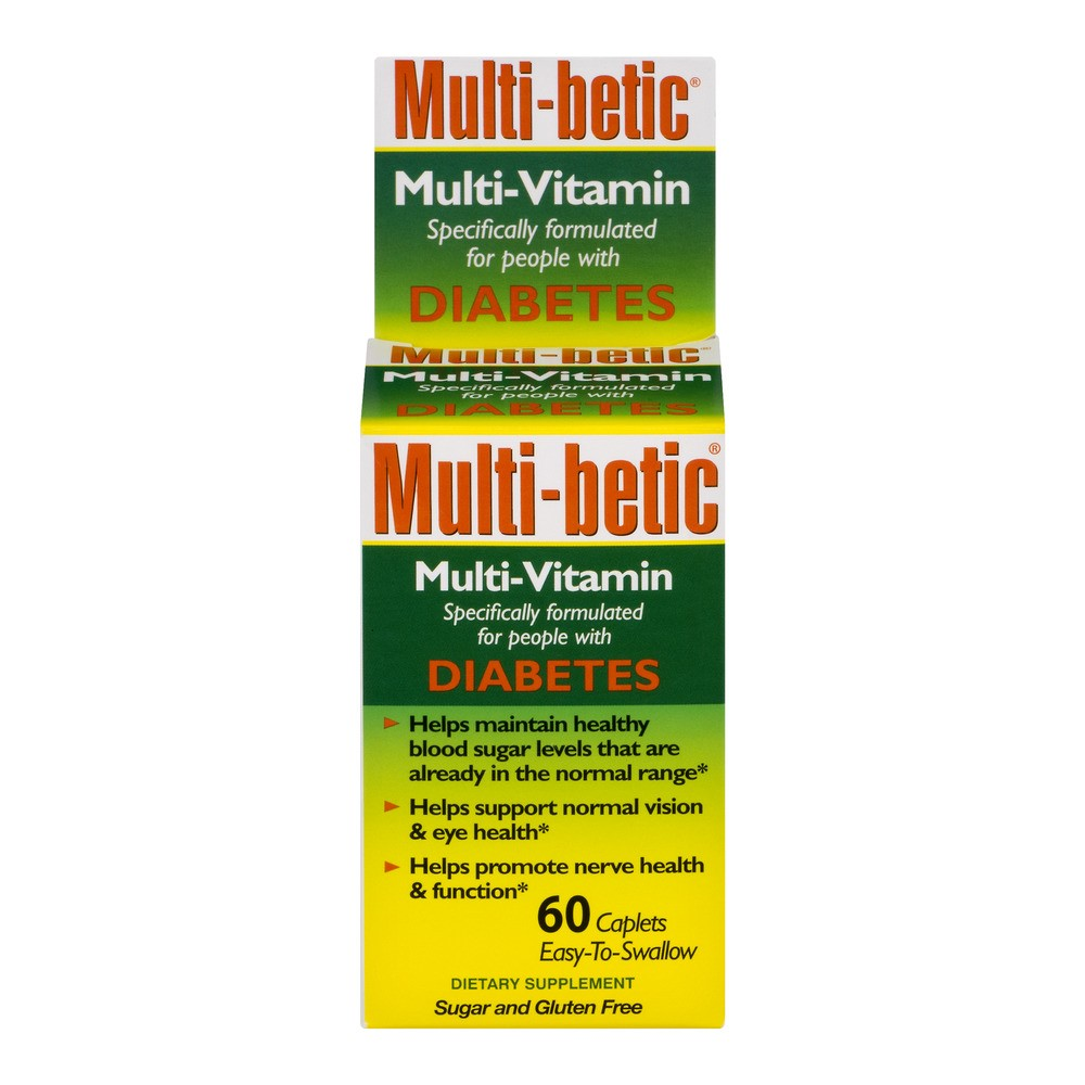Multi-Betic Diabetes Multivitamin Tablets, 60 Ct