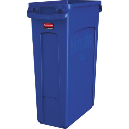 Rubbermaid Commercial, RCP1956185, Venting Slim Jim Waste Container, 1, Blue ()