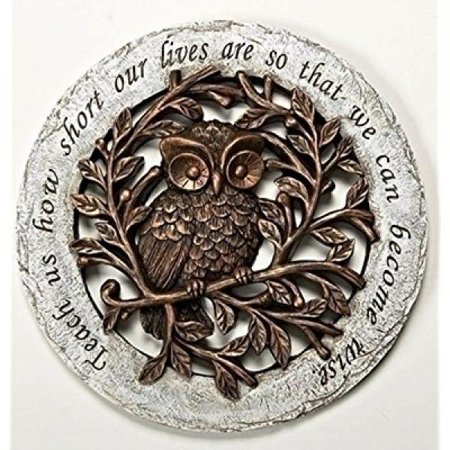 Wise Owl Bronze Tree Limbs 12 inch Resin Stone Decorative Stepping