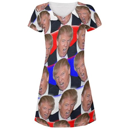 Election 2020 Trump Make America Great Funny Juniors V-Neck Beach Cover-Up - Funny Dress Up