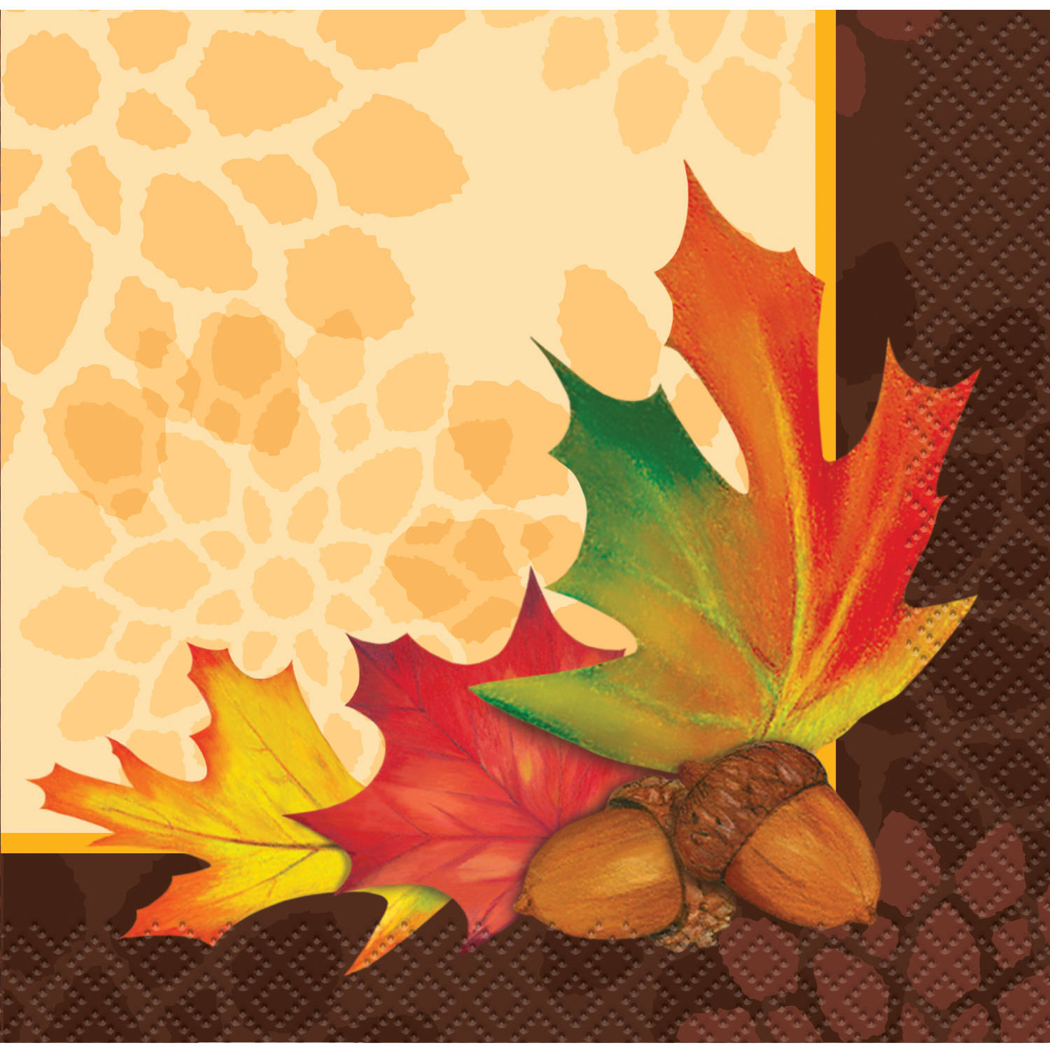Fall Leaves Beverage Napkins, 16ct by Unique Industries