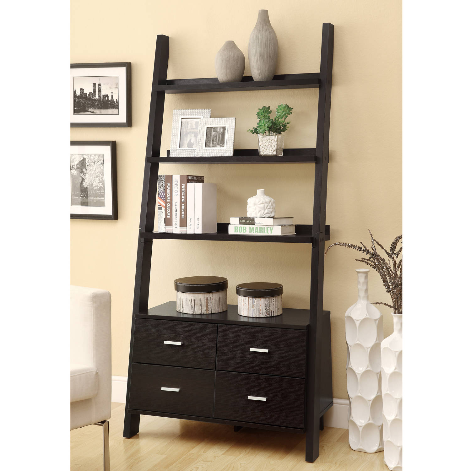 Coaster 4 Drawer Ladder Style Bookcase Photo Gallery
