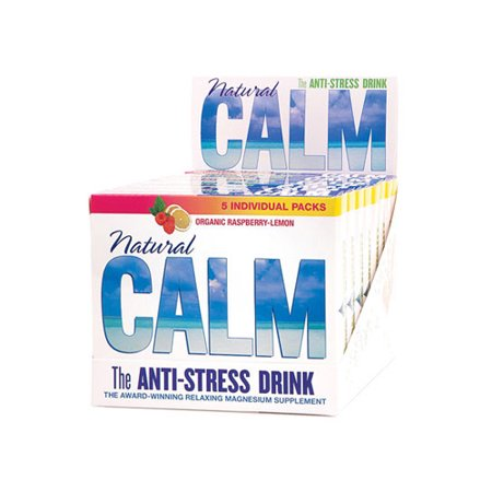 Natural Vitality Calm Counter Display   Raspberry Lemon   Case Of 8   5 Packs