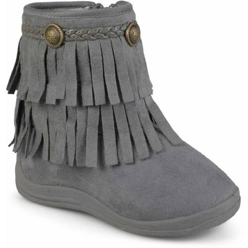 Toddler Girl's Fringed Round Toe (Girls Fringe Boot)
