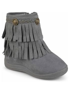f768aca44d9 Product Image Toddler Girl s Fringed Round Toe Boots
