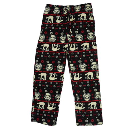 star wars mens black fleece galactic empire christmas pajama bottoms l - Star Wars Christmas Pajamas