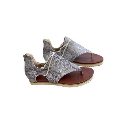 Smilkoo Womens Zipper Flat Thong Ankle Strap Sandal Womens Flat Silver Thong Shoes