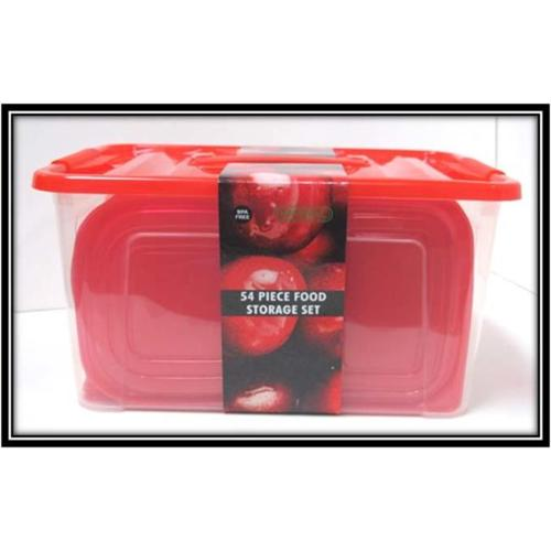 54Pc Plastic Containers Set