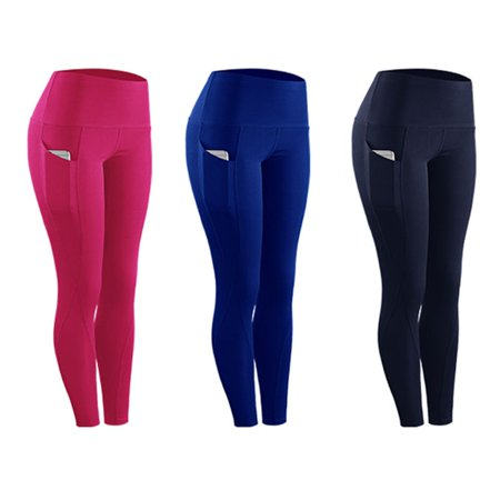 High Elastic Leggings Pant Women Solid Stretch Compression Sportswear Casual Yoga Jogging Leggings Pants With Pocket