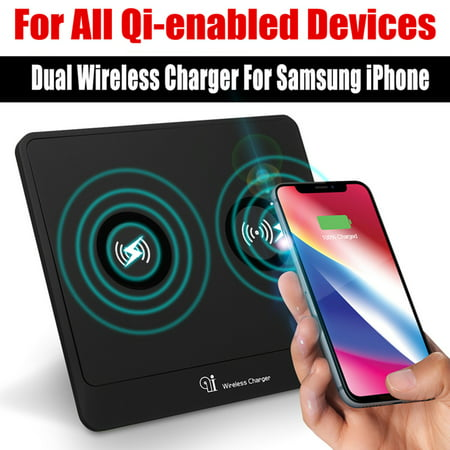 Qi Standard Wireless Charger Desktop Charging For I Phone Accessories iP hone X/8/8Plus Sansung HTC Phone Desktop Wireless Ip Phone