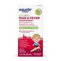 Equate Infants' Pain & Fever, Acetaminophen 160 mg per 5 mL, Suspension Liquid, Cherry Flavor, 2oz
