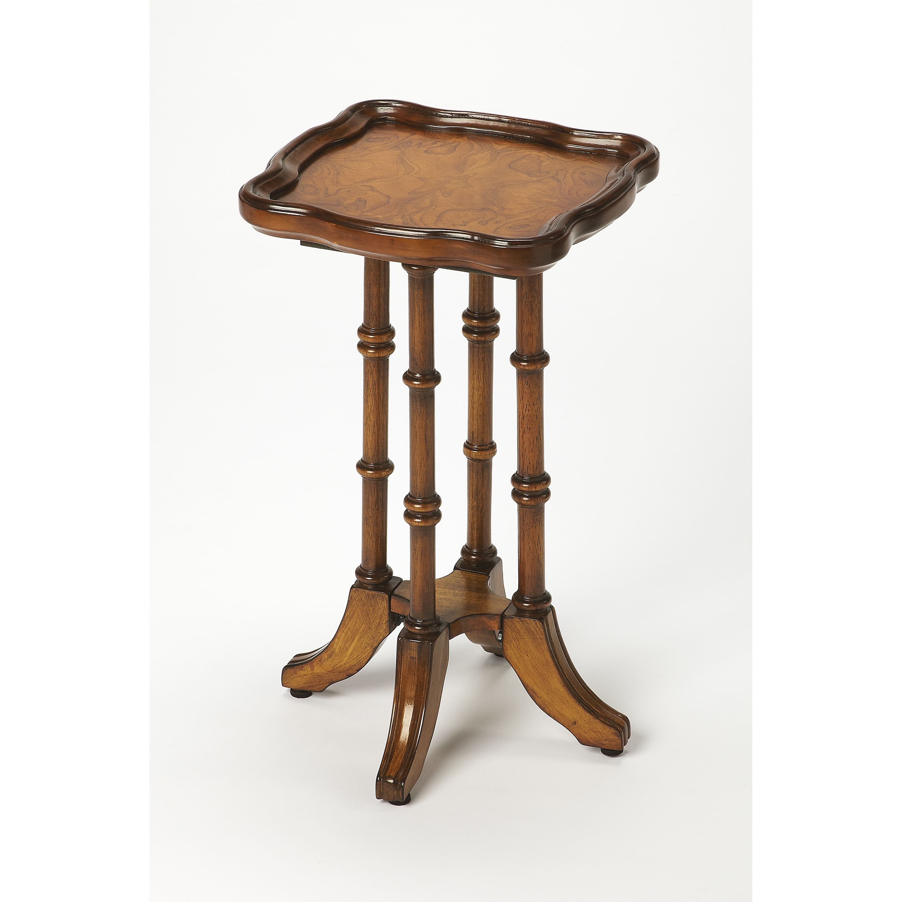 Butler Briscoe Olive Ash Burl Scatter Table