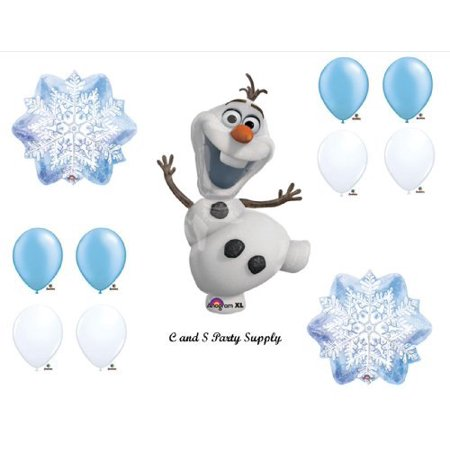 1 X Frozen Olaf Snowflakes Disney Movie BIRTHDAY PARTY Balloons Decorations Supplies - Olaf Birthday